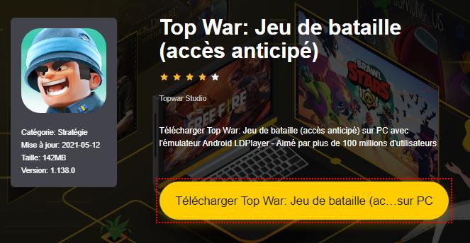 Installer Top War: Jeu de bataille (accès anticipé) sur PC