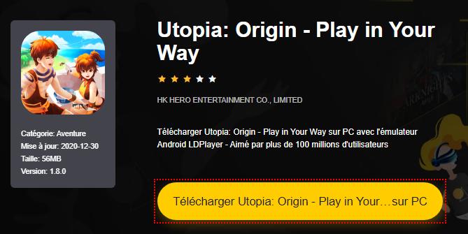 Installer Utopia: Origin - Play in Your Way sur PC
