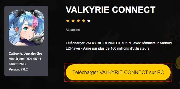 Installer VALKYRIE CONNECT sur PC