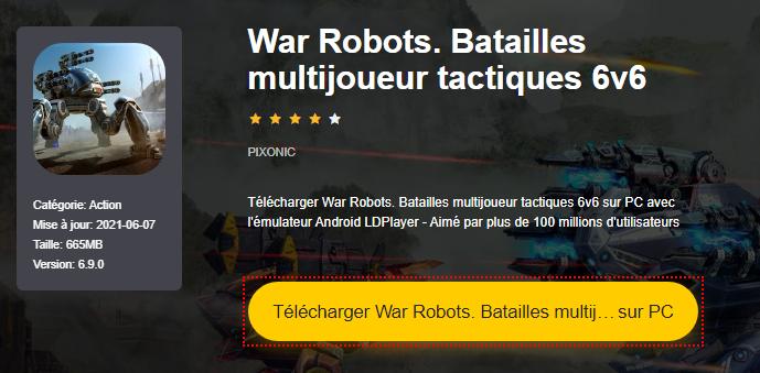 Installer War Robots. Batailles multijoueur tactiques 6v6 sur PC