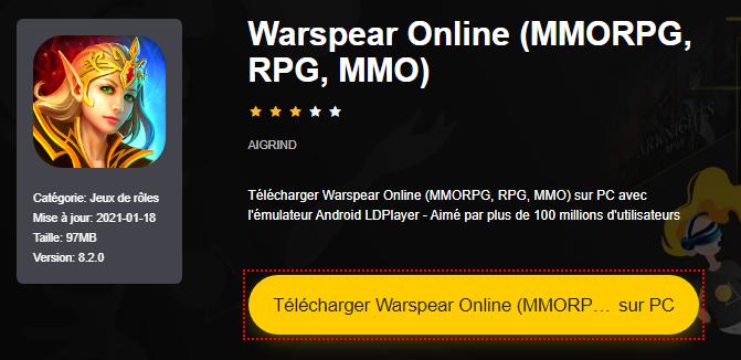 Installer Warspear Online (MMORPG, RPG, MMO) sur PC