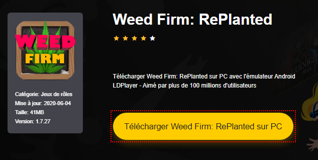 Installer Weed Firm: RePlanted sur PC
