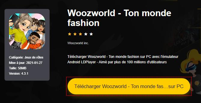 Installer Woozworld - Ton monde fashion sur PC
