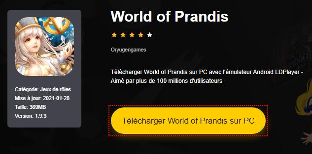 Installer World of Prandis sur PC