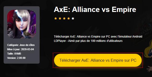 Installer AxE: Alliance vs Empire sur PC