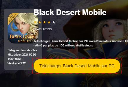Installer Black Desert Mobile sur PC