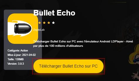 Installer Bullet Echo sur PC