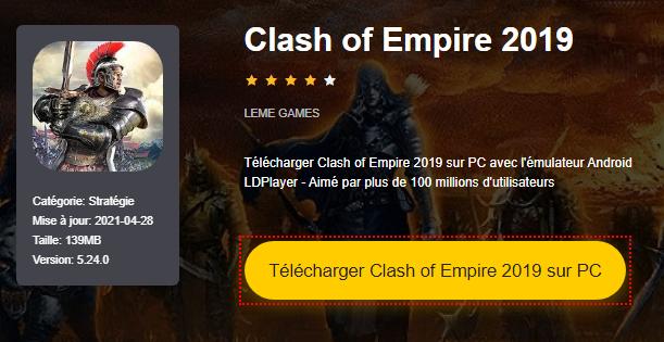 Installer Clash of Empire 2019 sur PC