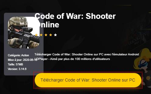 Installer Code of War: Shooter Online sur PC