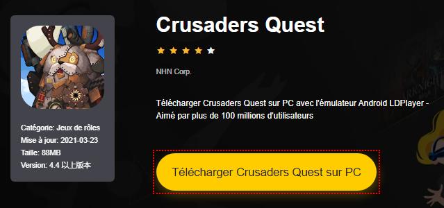 Installer Crusaders Quest sur PC