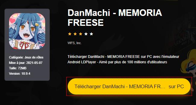 Installer DanMachi - MEMORIA FREESE sur PC