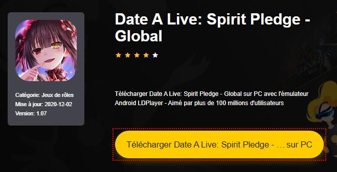 Installer Date A Live: Spirit Pledge - Global sur PC