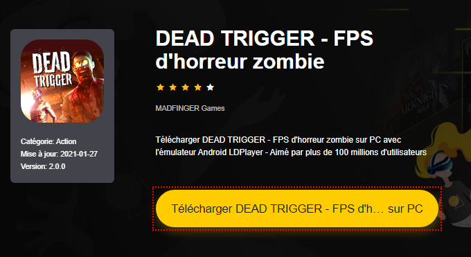 Installer DEAD TRIGGER - FPS d'horreur zombie sur PC