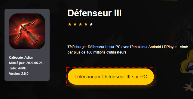 Installer Défenseur III sur PC