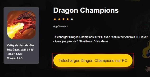Installer Dragon Champions sur PC