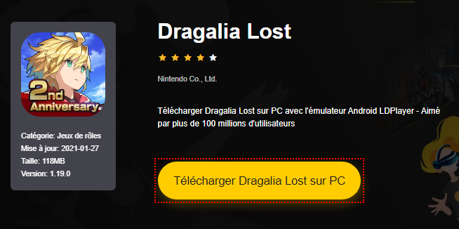 Installer Dragalia Lost sur PC