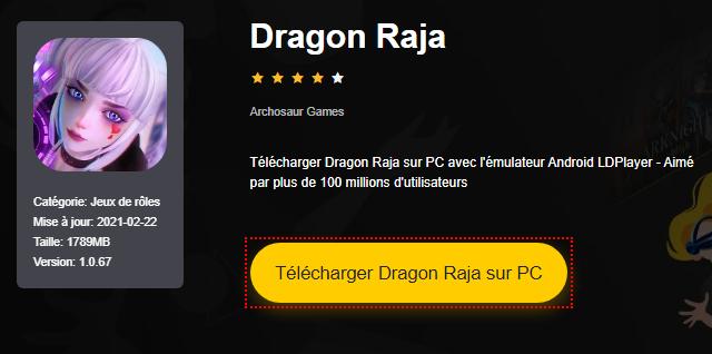 Installer Dragon Raja sur PC
