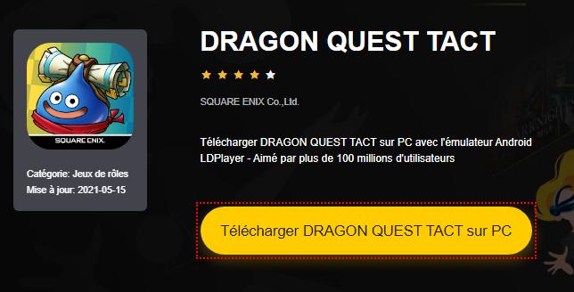 Installer DRAGON QUEST TACT sur PC