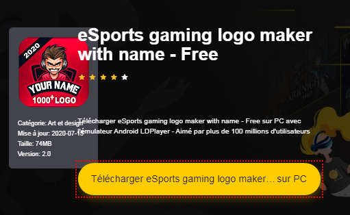 Installer eSports gaming logo maker with name - Free sur PC