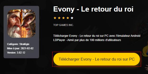 Installer Evony - Le retour du roi sur PC