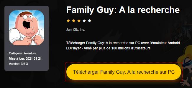 Installer Family Guy: A la recherche sur PC