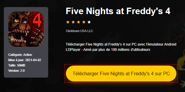 Installer Five Nights at Freddy's 4 sur PC