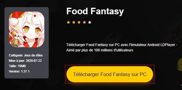 Installer Food Fantasy sur PC