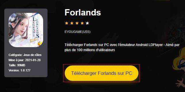 Installer Forlands sur PC