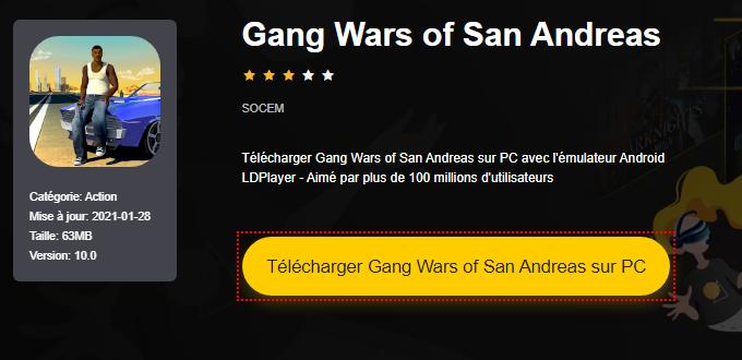 Installer Gang Wars of San Andreas sur PC