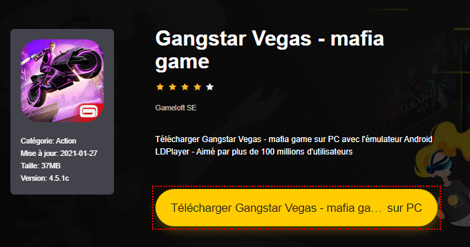 Installer Gangstar Vegas - mafia game sur PC