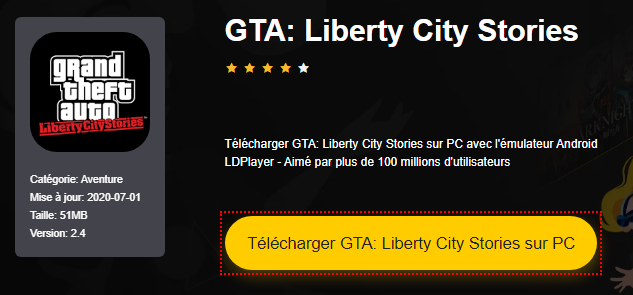 Installer GTA: Liberty City Stories sur PC