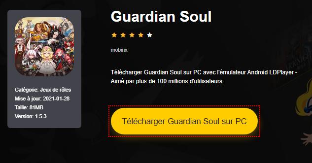 Installer Guardian Soul sur PC