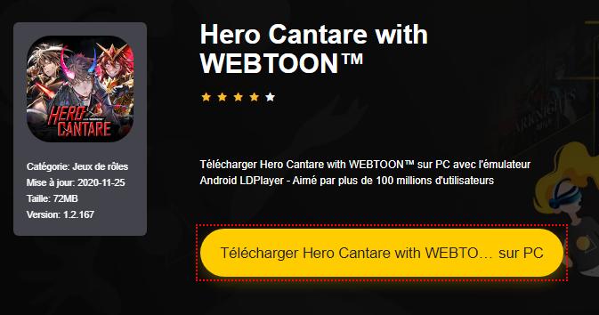 Installer Hero Cantare with WEBTOON™ sur PC