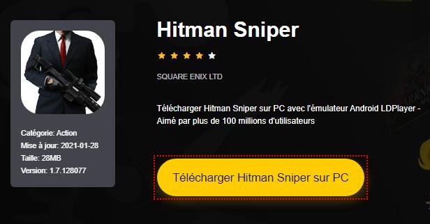 Installer Hitman Sniper sur PC