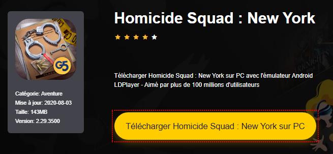 Installer Homicide Squad : New York sur PC