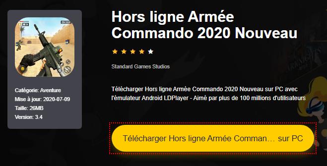 Installer Hors ligne Armée Commando 2020 Nouveau sur PC