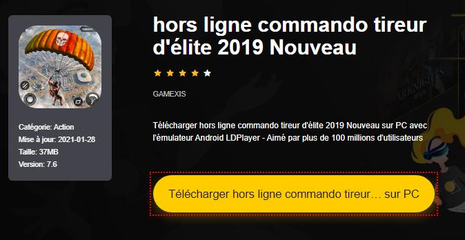 Installer Nouveau tireur d'élite commando hors ligne sur PC