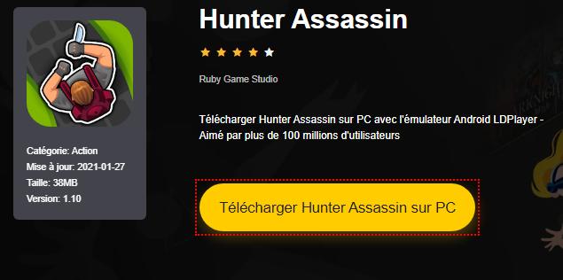 Installer Hunter Assassin sur PC