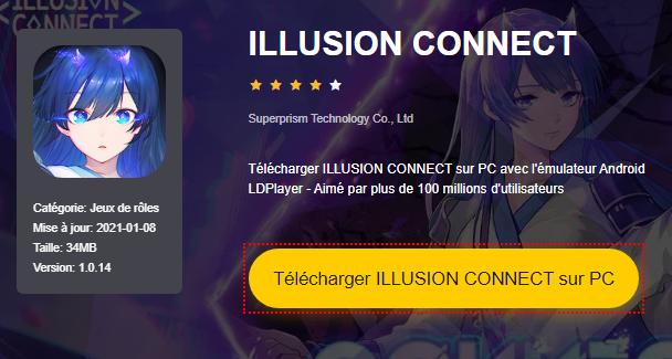 Installer ILLUSION CONNECT sur PC