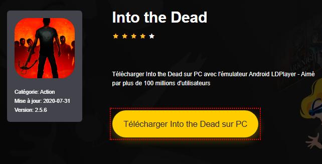 Installer Into the Dead sur PC