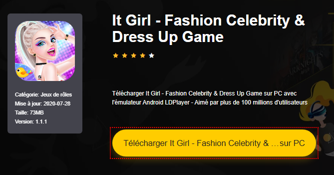Installer It Girl - Fashion Celebrity & Dress Up Game sur PC