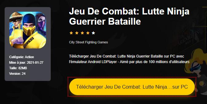 Installer Jeu De Combat: Lutte Ninja Guerrier Bataille sur PC