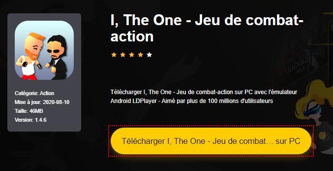 Installer I, The One - Jeu de combat-action sur PC