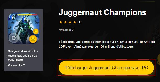 Installer Juggernaut Champions sur PC