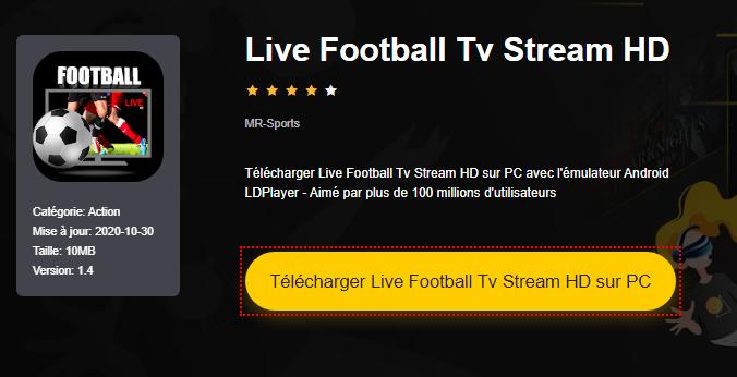 Installer Live Football Tv Stream HD sur PC