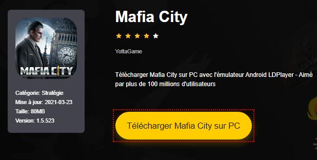 Installer Mafia City sur PC