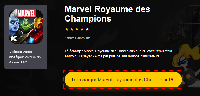 Installer Marvel Royaume des Champions sur PC
