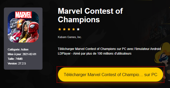 Installer Marvel Contest of Champions sur PC
