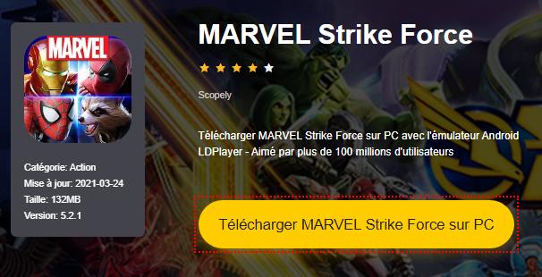 Installer MARVEL Strike Force sur PC