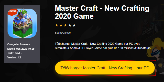 Installer Master Craft - New Crafting 2020 Game sur PC